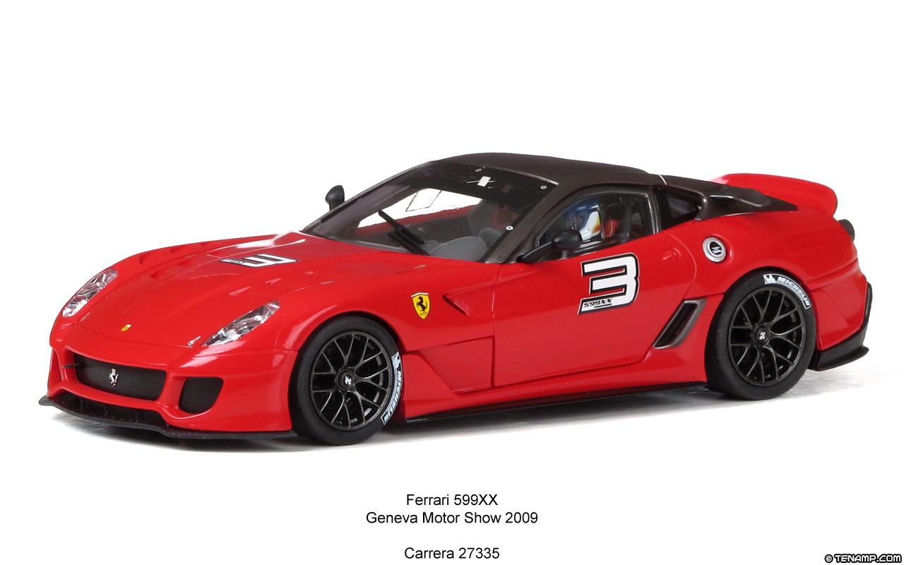 Carrera 27335 Ferrari 599xx No 3 Geneva Motor Show 2009