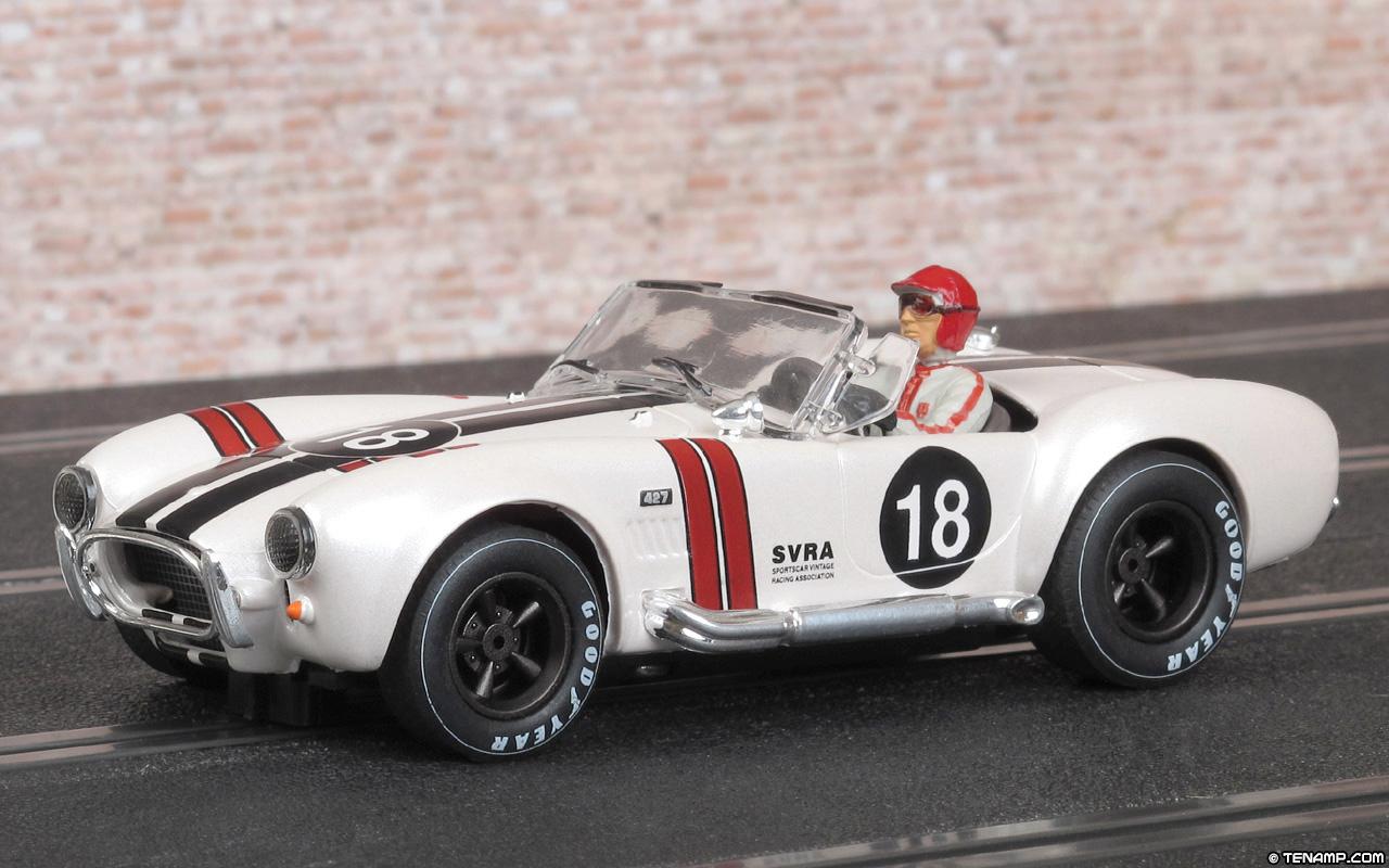 Mrrc mc 9912 shelby cobra 427 18 white sportscar vintage racing association