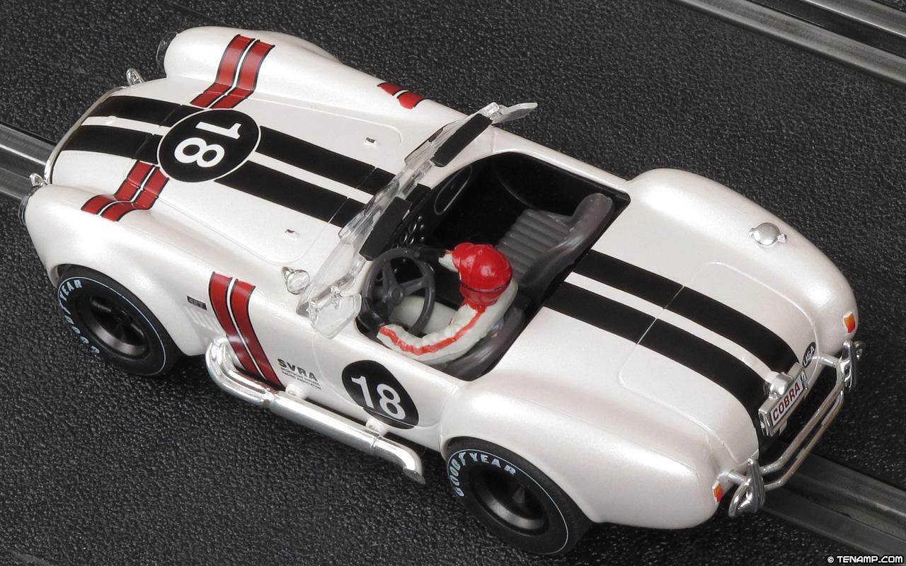 Sportscar vintage racing association mrrc mc 9912 shelby cobra 427 18 white sportscar vintage racing association