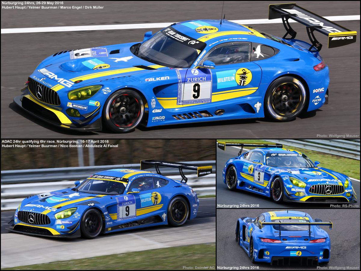 Mercedes Benz Car >> Scalextric C1374 set car No.9 - Mercedes-AMG GT3. Bilstein