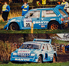 MG Metro 6R4 - #35 Sanyo/Comet - Team Sanyo Rallying with Comet: DNF, Lombard RAC Rally 1986. Willie Rutherford / Bryan Harris