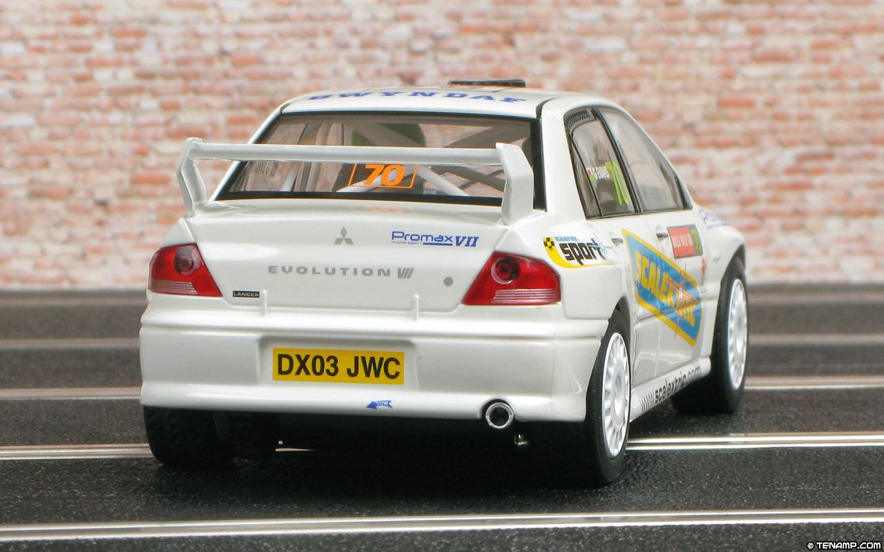Scalextric C2682 Mitsubishi Lancer Evo 7 WRC - Rally GB 2004