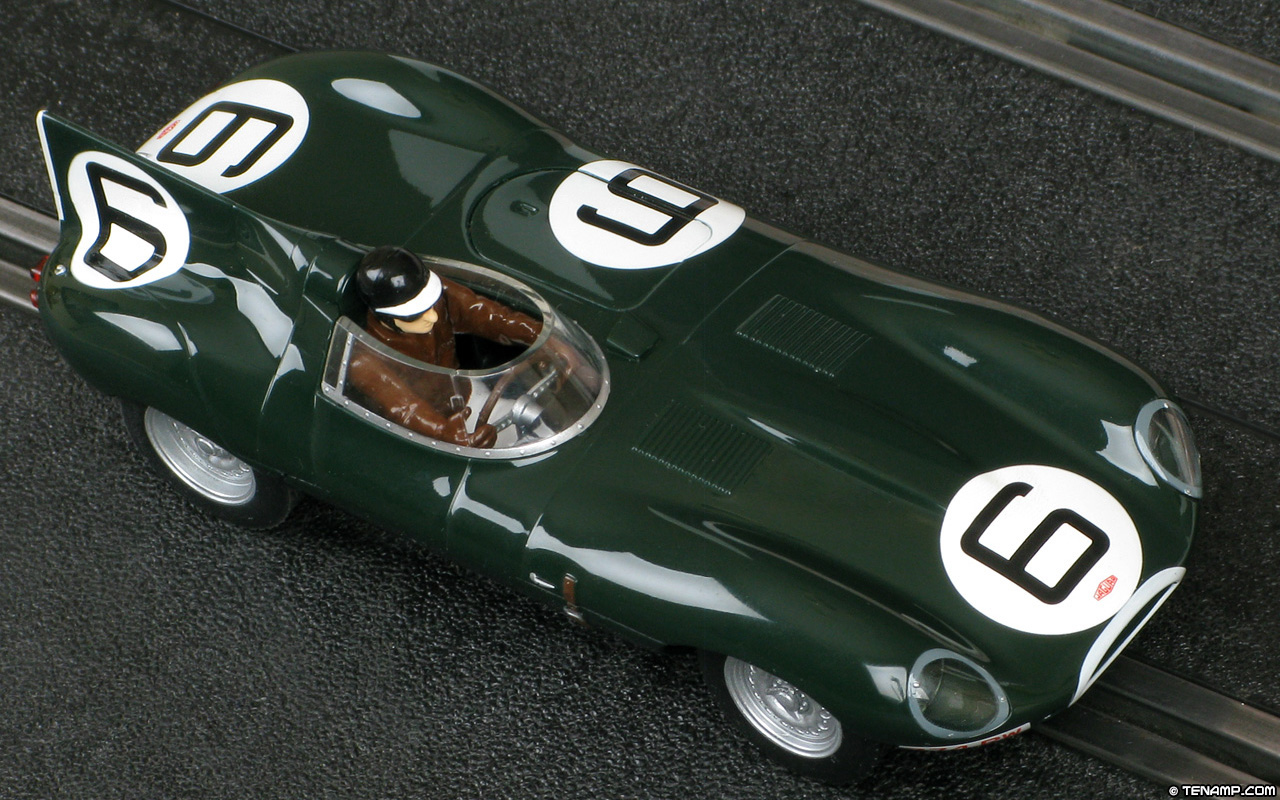 Scalextric c3034w jaguar d type 6 winner le mans 1955 for Garage automobile le mans