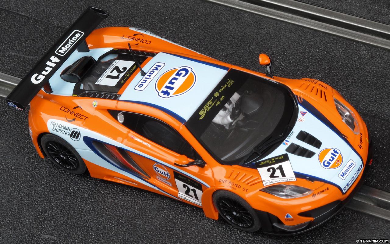 Scalextric C3287 McLaren MP4-12C GT3. #21 Gulf. Macau 2011