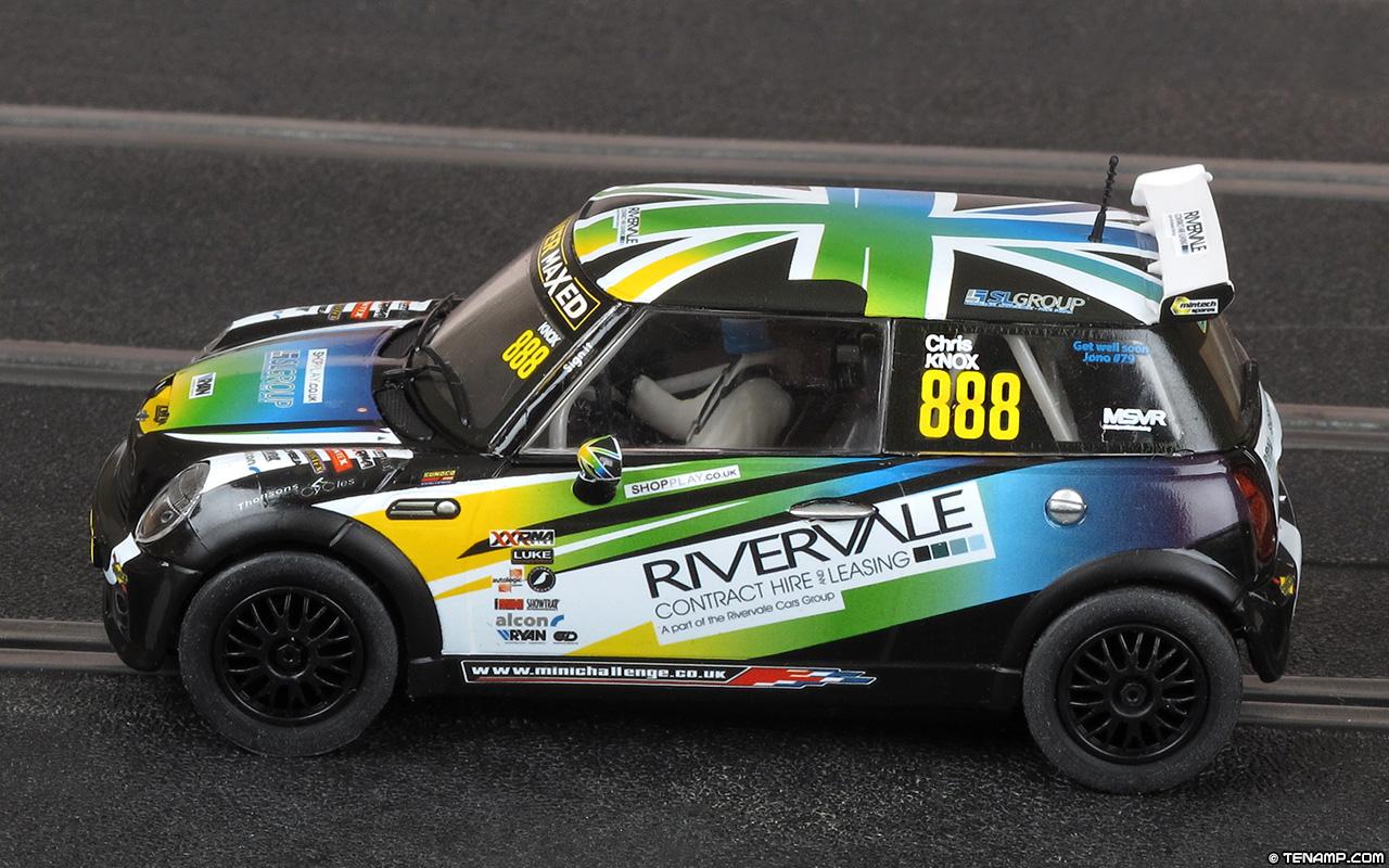 Scalextric C3606 Bmw Mini Cooper S 888 Rivervale Chris Knox 2014