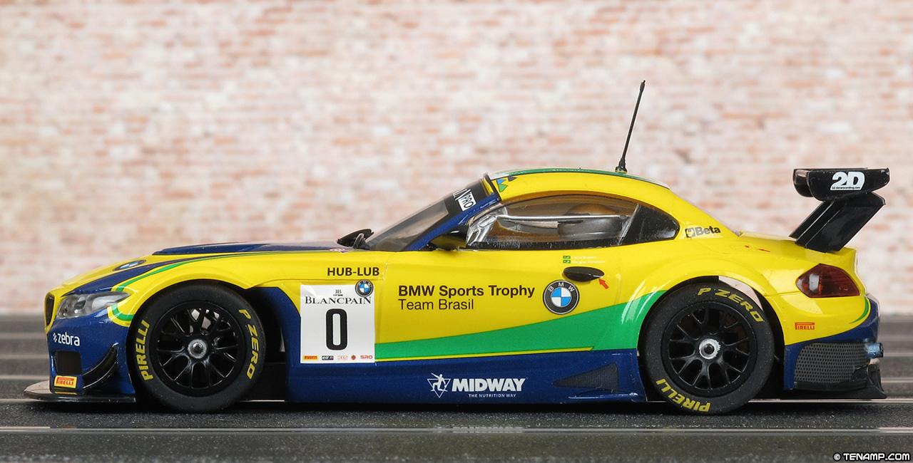Scalextric C3721 Bmw Z4 Gt3 0 Team Brasil Blancpain