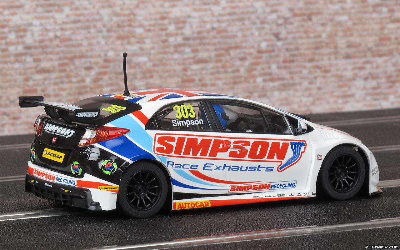 Racing In Car >> Scalextric C3915 Honda Civic Type R - #303 Matt Simpson BTCC 2017