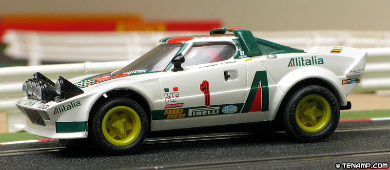 scalextric altaya coches miticos lancia stratos hf - #1 alitalia
