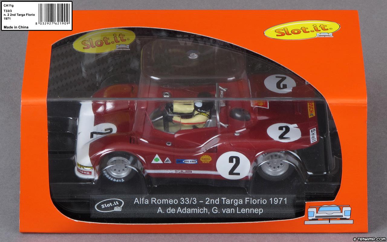 Slot It Ca11g Alfa Romeo 33 3 2 2nd Targa Florio 1971